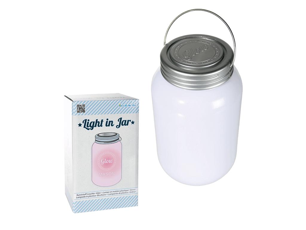 Φωτιστικό LED Βάζο 18.5x10.5cm με Καπάκι, Λαβή και Εναλλασόμενο χρωματιστό Φως, 57/9636 - Out Of The Blue