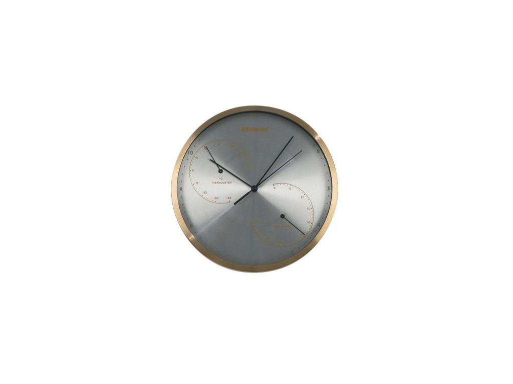Polaroid Επιτοίχιος Μετεωρολογικός Σταθμός Ρολόι, Υγρόμετρο και Θερμόμετρο 25x4. διακόσμηση και φωτισμός   ρολόγια τοίχου  επιτραπέζια και επιδαπέδια ρολόγια