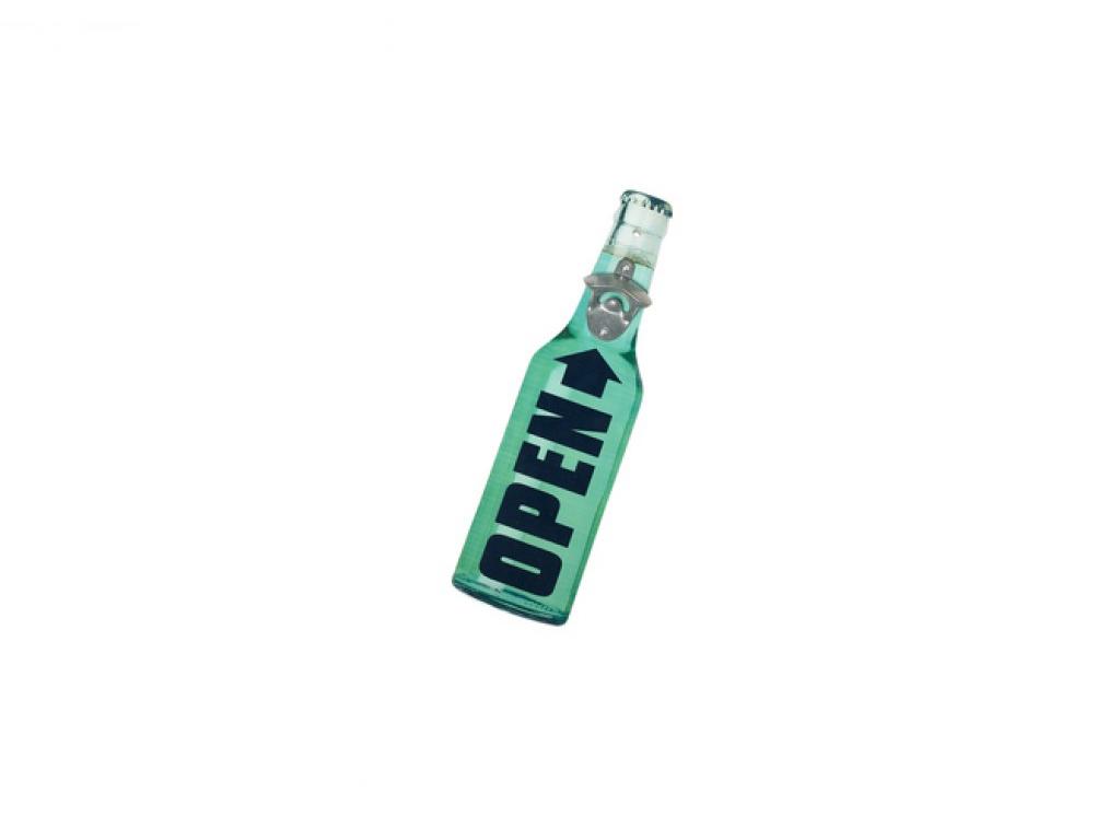 Trendy Ξύλινα Ανοιχτήρια Μπουκαλιών σε σχήμα μπουκαλιού 40x11x4cm, 41294 Πράσινο – Cb