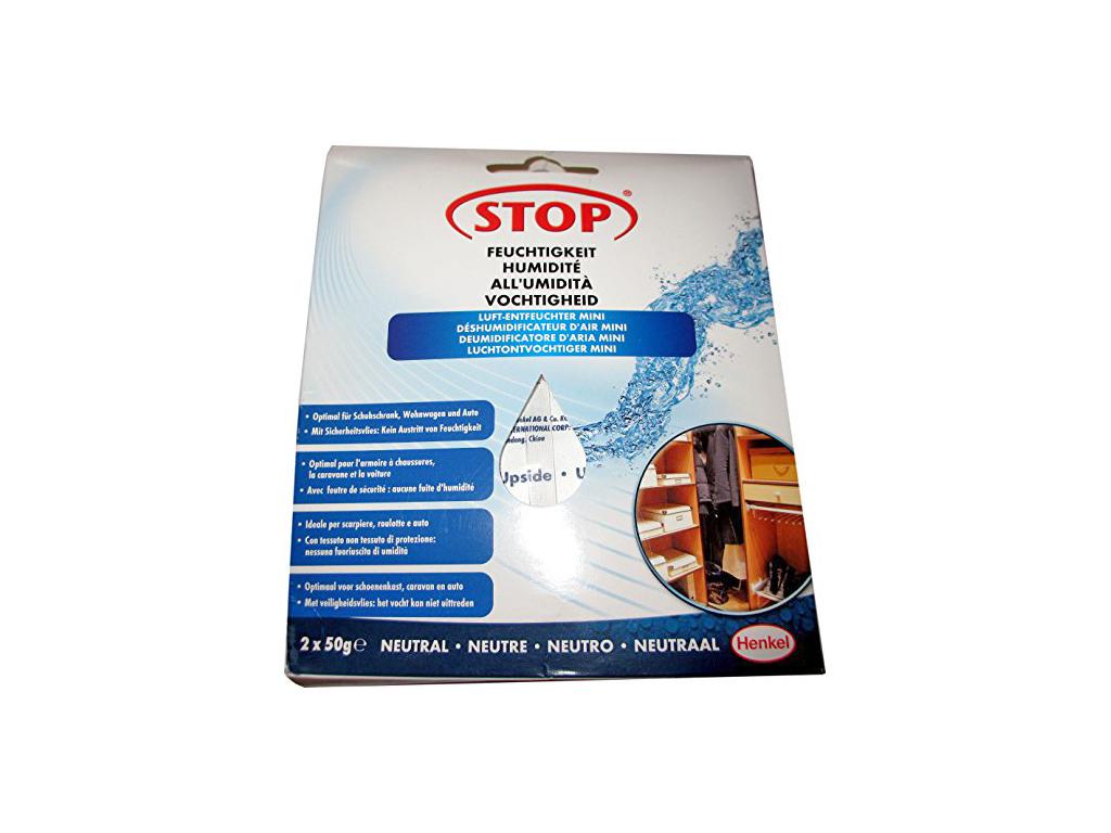 Henkel Σετ 2 τεμάχια 50gr Στοπ στην Υγρασία με Σακουλάκια που Γίνονται Ζελέ με Ουδέτερο Άρωμα, 43466 - Henkel