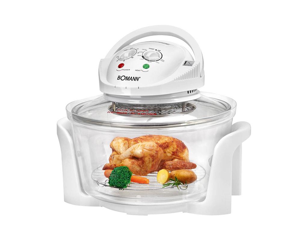 Bomann Ρομποτάκι Πολυμάγειρας Φουρνάκι Αλογόνου 12L 1400W Θερμού Αέρα για Υγιειν ηλεκτρικές οικιακές συσκευές   φουρνάκια