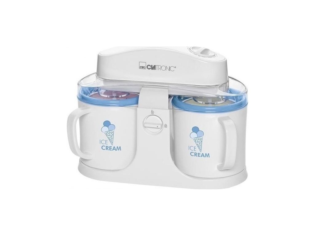 Clatronic Παγωτομηχανή 12W με 2 δοχεία από 500ml για γρανίτα, παγωτό και κατεψυγ ηλεκτρικές οικιακές συσκευές   παγωτομηχανές