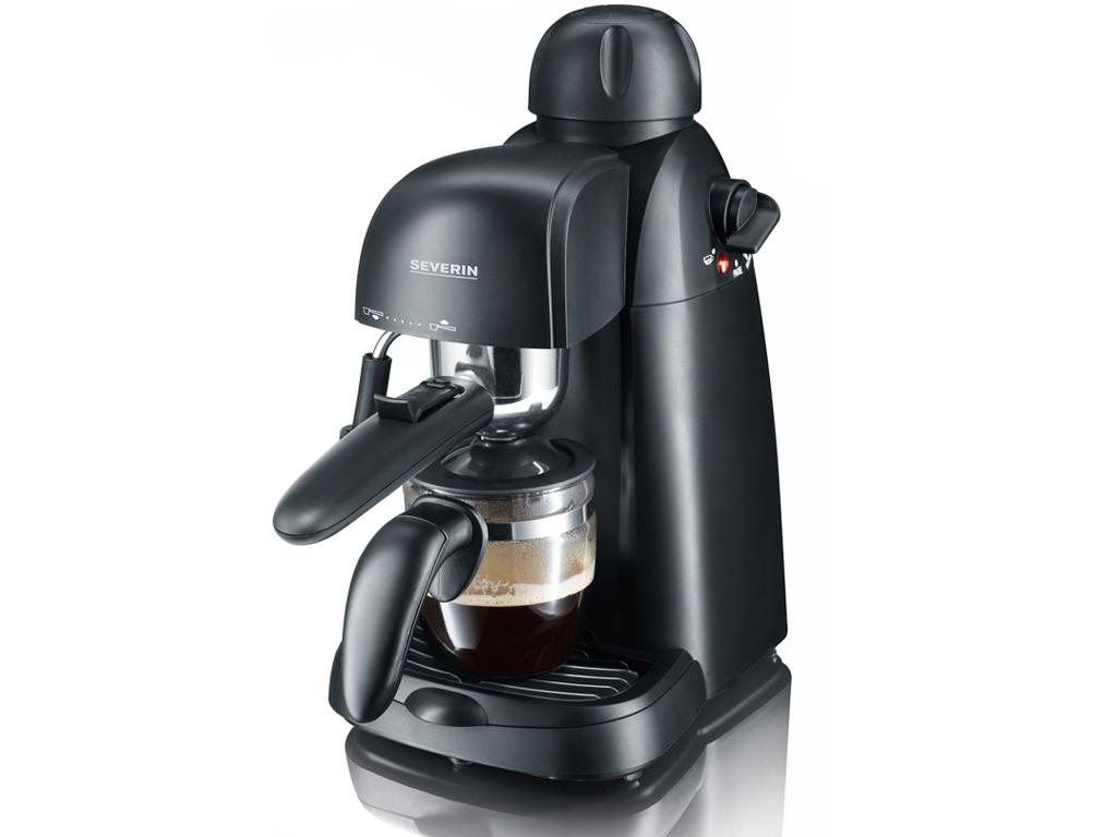 Severin Καφετιέρα-Μηχανή Espresso 800 Watt με Ακροφύσιο ατμού για τη δημιουργία  ηλεκτρικές οικιακές συσκευές   καφετιέρες και είδη καφέ
