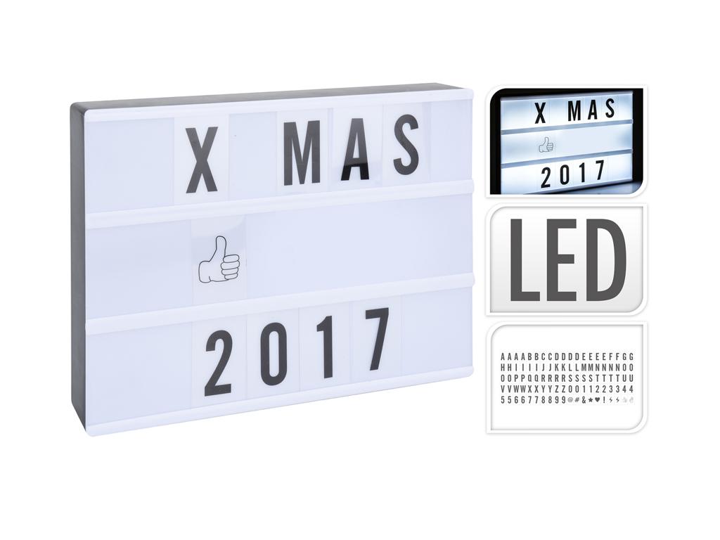 Διακοσμητικός Φωτιζόμενος Πλαστικός Πίνακας LED 31x43cm με 70 γράμματα, 20 αριθμ διακόσμηση και φωτισμός   led φωτισμός
