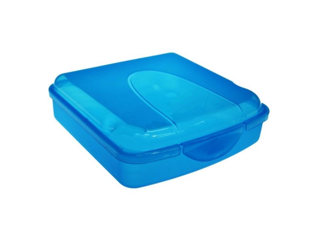 Φαγητοδοχείο πλαστικό για τόστ 14x14x5 Μπλε - Cb