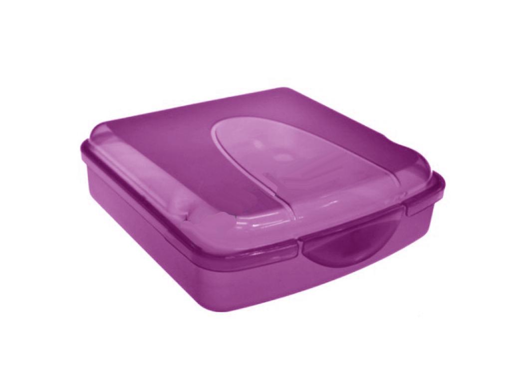 Φαγητοδοχείο πλαστικό για τόστ 14x14x5 Μωβ - Cb