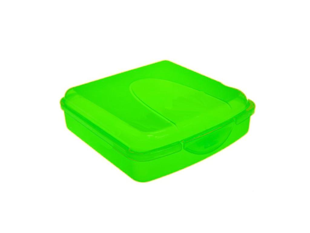 Φαγητοδοχείο πλαστικό για τόστ 14x14x5 Πράσινο - Cb