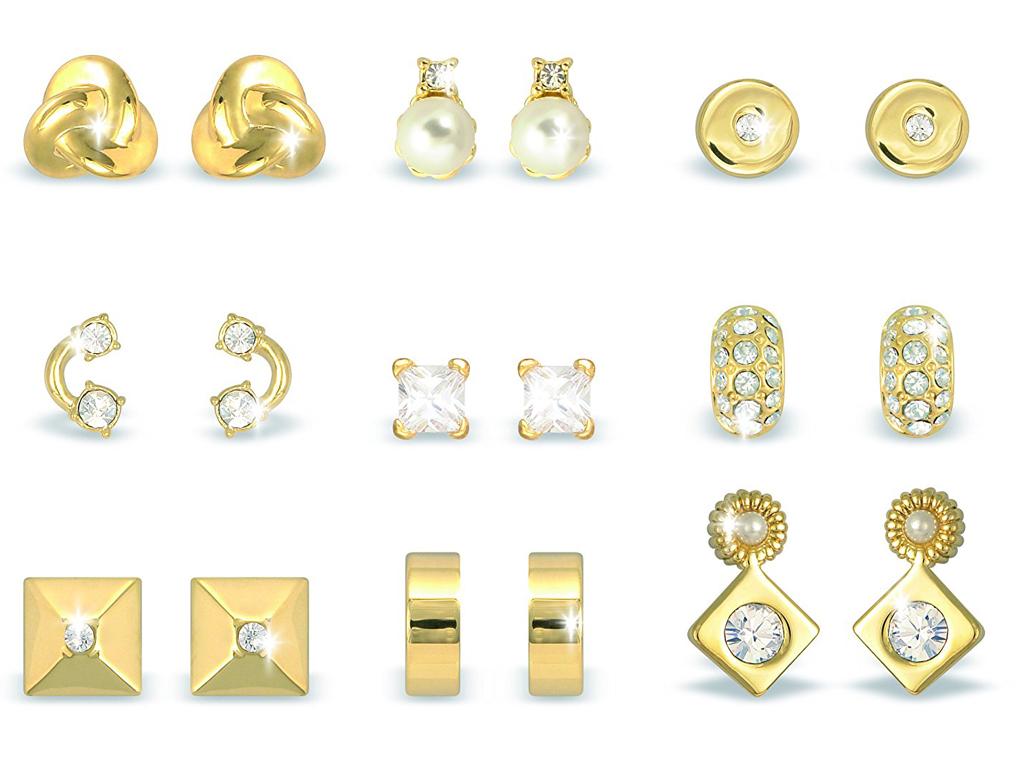 Pierre Cardin Gift Set PXE90045A Σετ συλλογή Κοσμημάτων με 9 Ζευγάρια Σκουλαρίκι γυναίκα   αξεσουάρ   κόσμημα