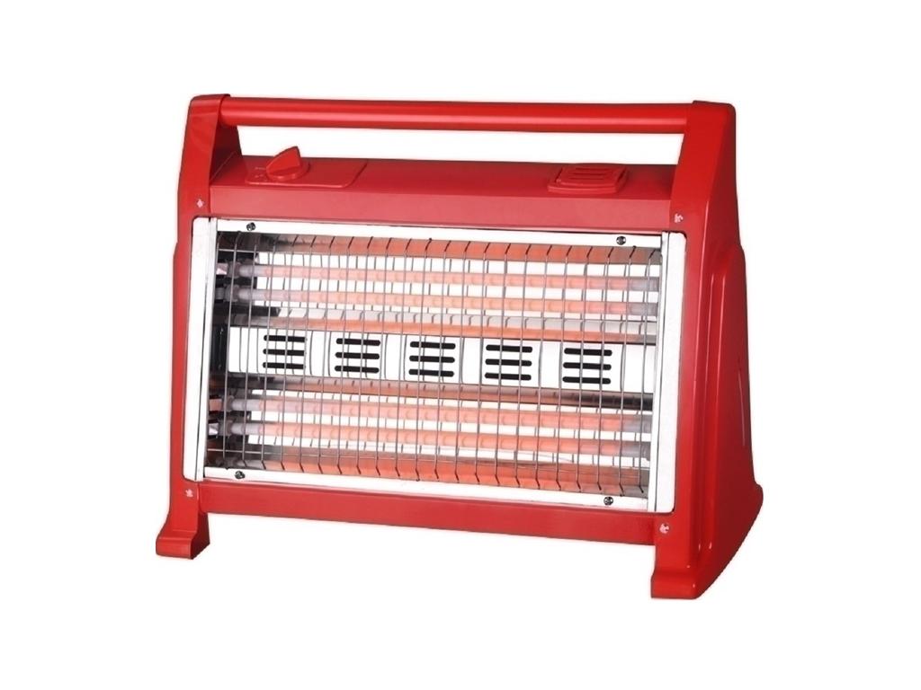 Hotty Ηλεκτρική Σόμπα Δαπέδου Θερμάστρα Χαλαζία 1600W 50x20x37cm σε Κόκκινο χρώμ θέρμανση και κλιματισμός   θέρμανση