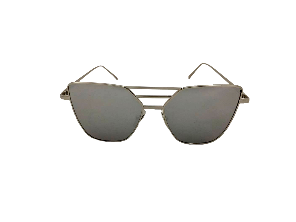 Γυναικεία Γυαλιά Ηλίου Καθρέφτης Flat top Sunglasses με Ασημί Μεταλλικό σκελετό  γυαλιά ηλίου   γυναικεία γυαλιά ηλίου