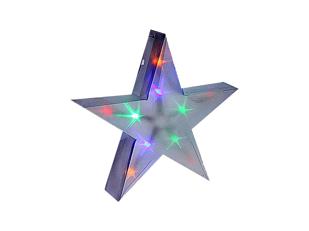 Christmas Gifts Χριστουγεννιάτικο 3D Διακοσμητικό Αστέρι με λαμπάκια Led πολύχρω χριστουγεννιάτικα είδη   φωτάκια λαμπάκια
