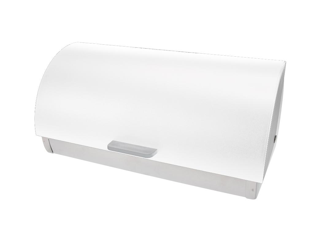 Μεταλλική Ψωμιέρα 39.5x19x26cm από Ανοξείδωτο ατσάλι με Καπάκι, 170422880 Λευκό  κουζίνα   κουτιά κουζίνας και ψωμιέρες