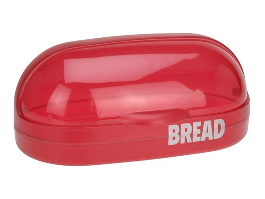 Retro Πλαστική Ψωμιέρα 37x20x16cm με καπάκι, 179650380 Κόκκινο - Cb κουζίνα   κουτιά κουζίνας και ψωμιέρες