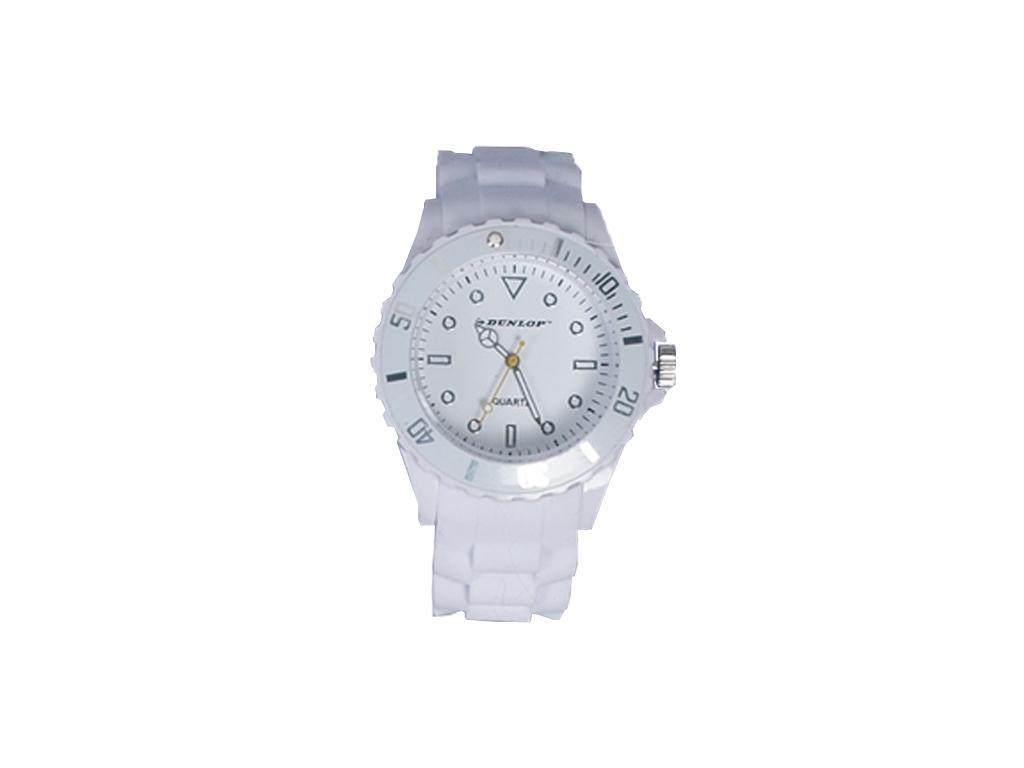 Dunlop Ρολόι Trendy Unisex Ελβετικός Μηχανισμός Quartz Λουράκι από Σιλικόνη Λευκ ρολόγια χειρός   unisex ρολόγια χειρός