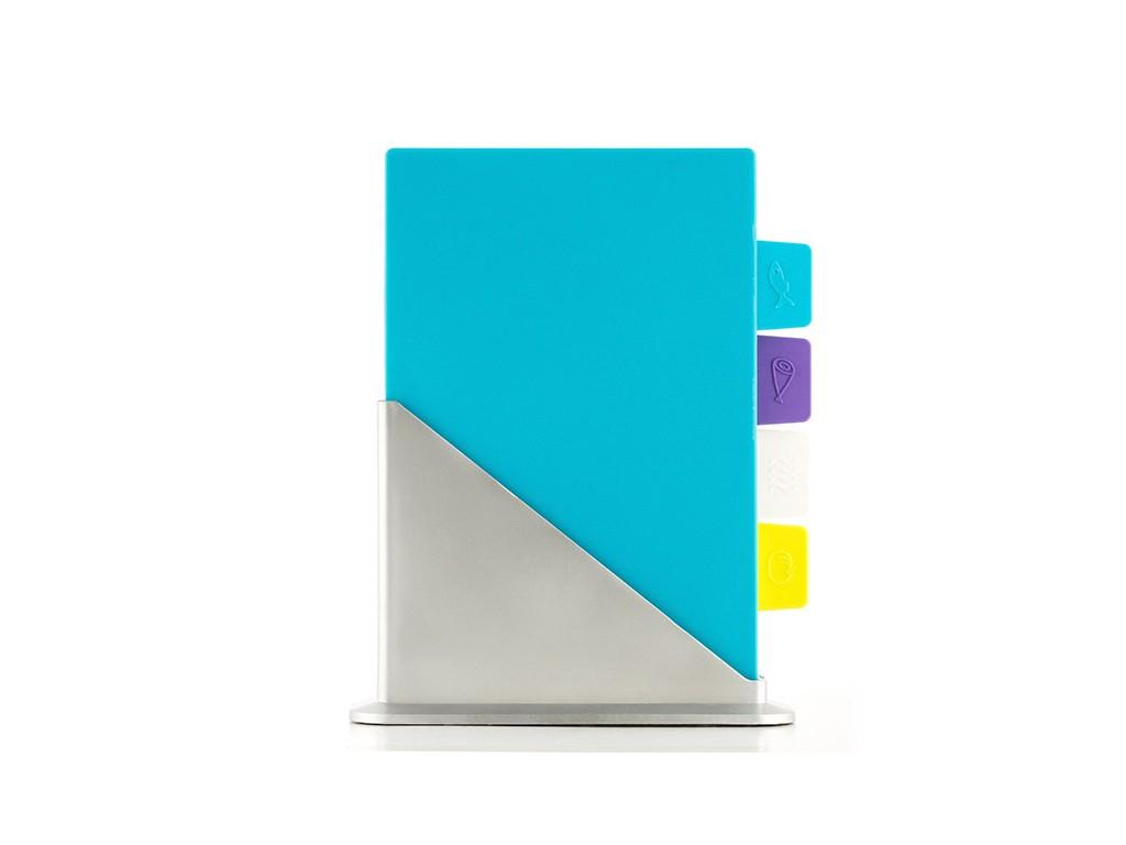 Σετ 4 τεμ. Επιβάνεια Βάση κοπής από Πλαστικό 30x20x0.5cm σε 4 διαφορετικά χρώμμα αξεσουάρ και εργαλεία κουζίνας   επιφάνειες κοπής