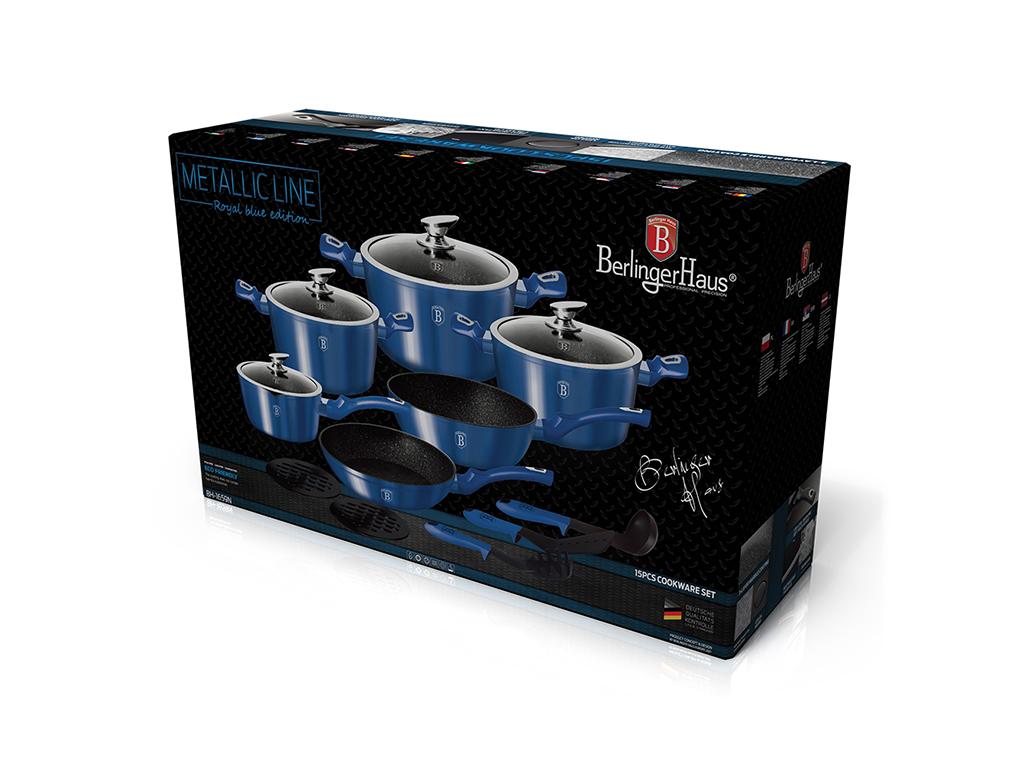 Berlinger Haus 15 pcs cookware set, Metallic Line Royal Blue Edition, BH-1659N | Cookware Set - hellas-tech.gr