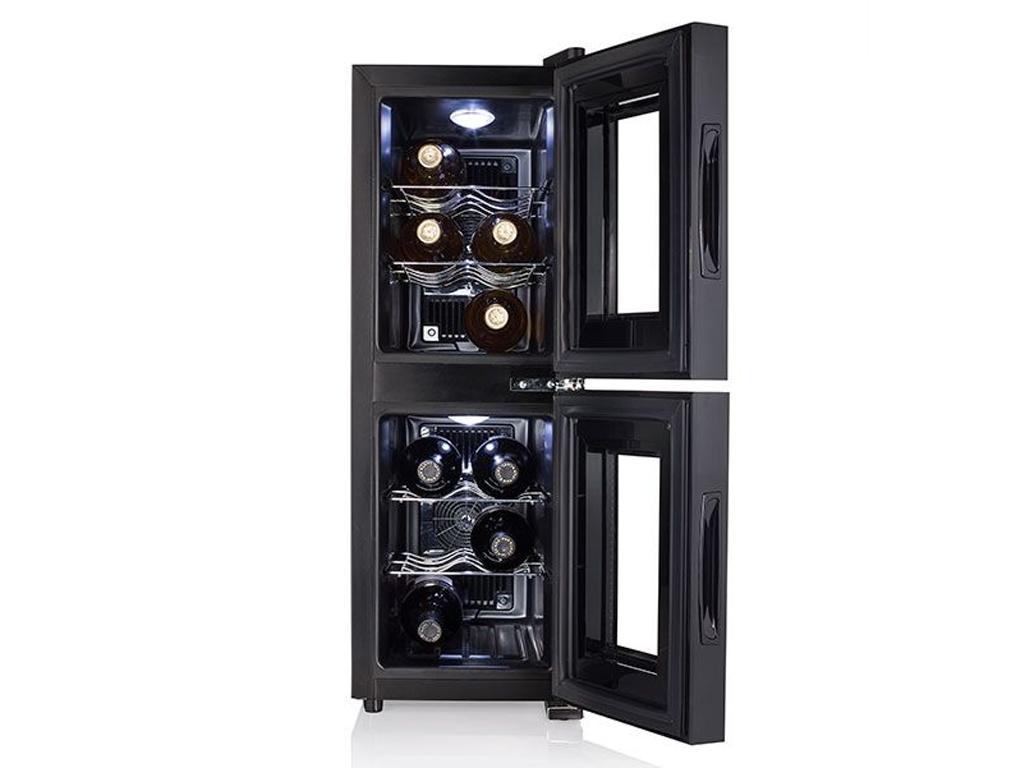 Διπλό Ψυγείο Κρασιών Συντηρητής 32L Χαμηλού Θορύβου για 12 φιάλες 140W Ενεργειακής κλάσης C, Tristar, WR7512 - Tristar