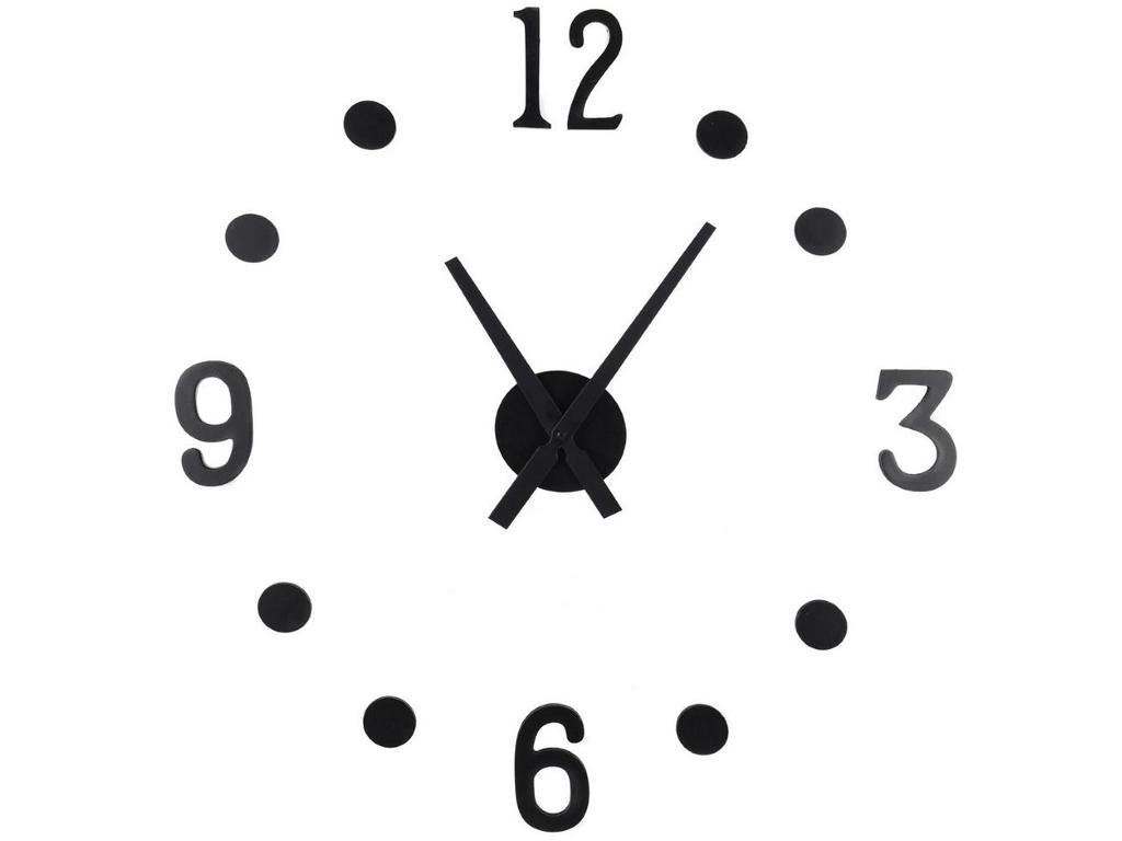 Μοντέρνο Ρολόι Τοίχου Αυτοκόλλητο DIY με Μαύρες ενδείξεις, ΗΧ9000160 - Cb διακόσμηση και φωτισμός   ρολόγια τοίχου  επιτραπέζια και επιδαπέδια ρολόγια