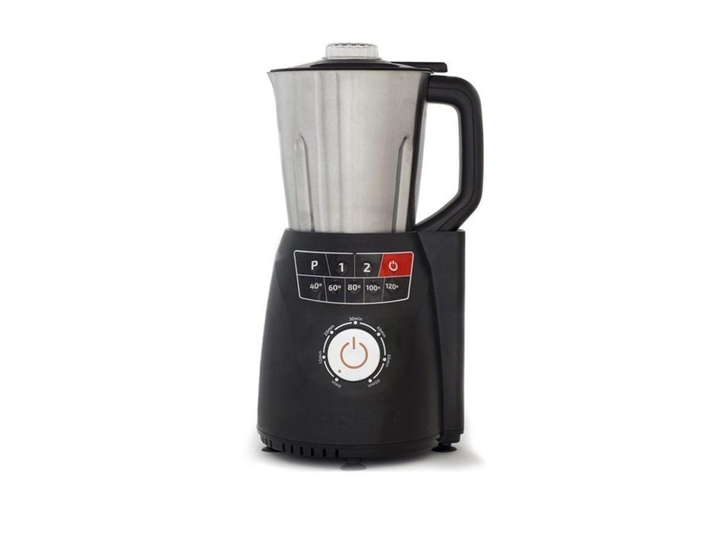 Cecotec Πολυμηχάνημα Ρομπότ Κουζίνας Επεξεργαστής Τροφίμων 1250W 2.5Lt με Πολλαπλές Λειτουργίες και Σχάρα Ατμού από Χάλυβα σε Μαύρο χρώμα, Compact Pro 4025 - Cecotec