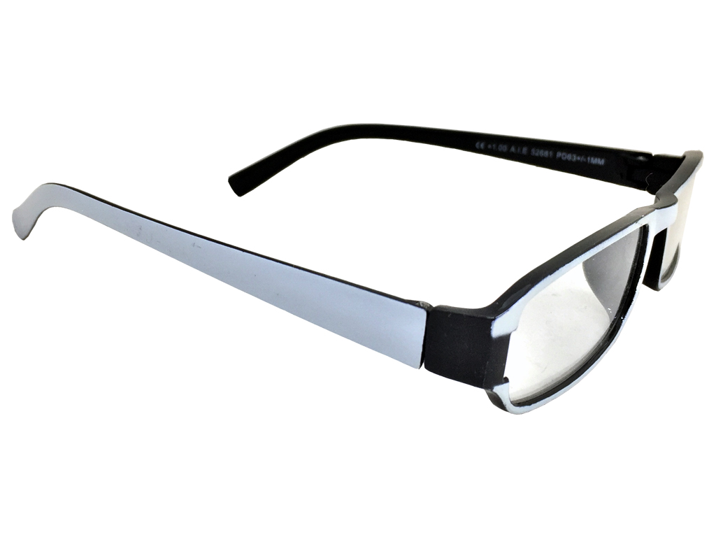 cbb9884b50 Fashion Zone Unisex Γυαλιά Πρεσβυωπίας Διαβάσματος με Λεπτό Μαύρο-Λευκό  σκελετό και βαθμό +2.50