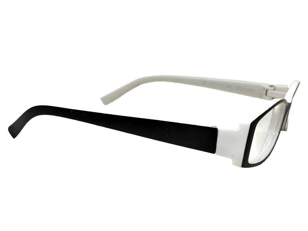 645ae0f599 Fashion Zone Unisex Γυαλιά Πρεσβυωπίας Διαβάσματος με Λεπτό Λευκό-Μαύρο  σκελετό και βαθμό +3.00