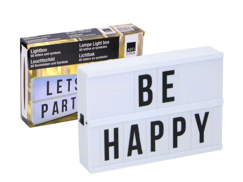Πίνακας LED Φωτιζόμενος lightbox A5 με 60 Κάρτες με γράμματα και σύμβολα και 5 L διακόσμηση και φωτισμός   led φωτισμός