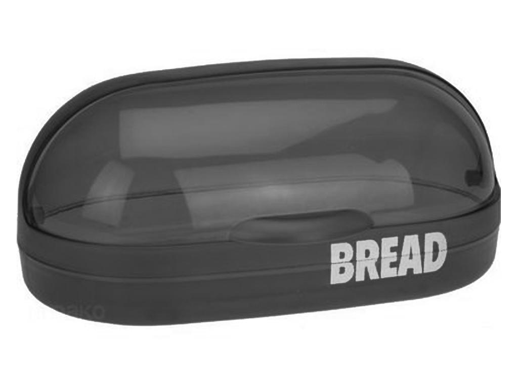 Retro Πλαστική Ψωμιέρα 37x20x16cm με καπάκι, 179650380 Μαύρο - Cb κουζίνα   κουτιά κουζίνας και ψωμιέρες