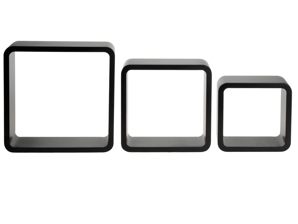 Σετ Ξύλινα Μοντέρνα Τετράγωνα Ράφια Εισόδου 3 τεμ., C37889030 - Cb έπιπλα   έπιπλα εισόδου και σύνθετα