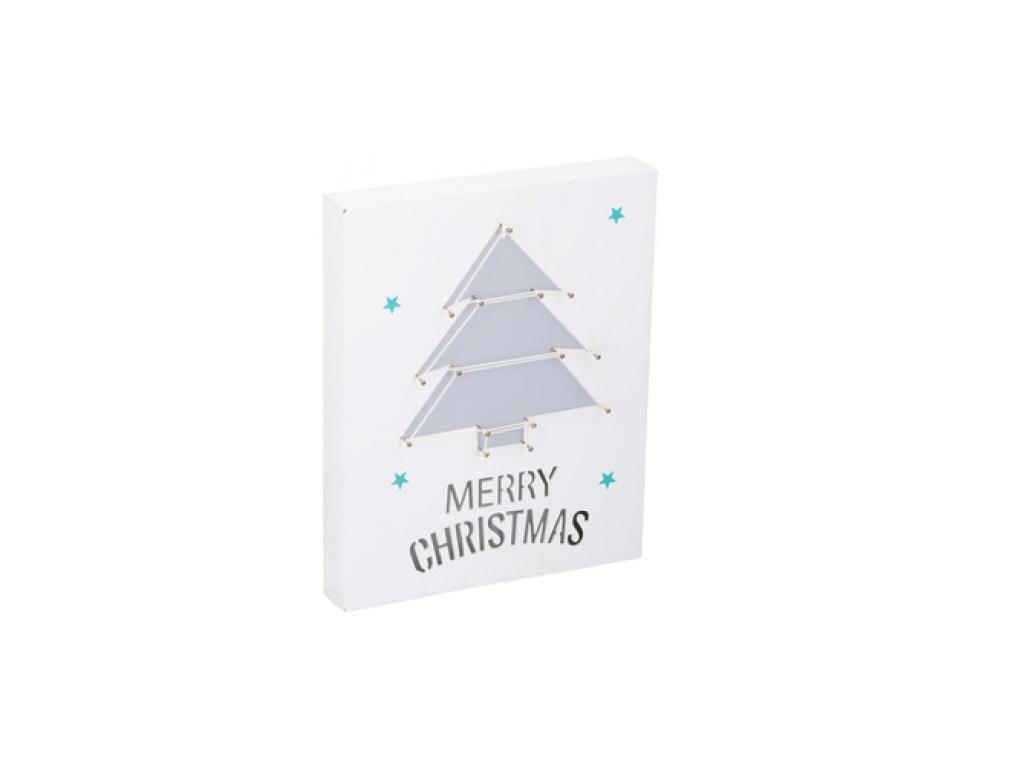 Christmas Gifts Ξύλινος Διακοσμητικός Χριστουγεννιάτικος Πίνακας με Χριστουγεννι εποχιακά   χριστουγεννιάτικα είδη