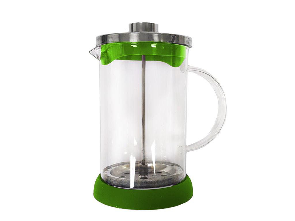 Cuisine Elegance Χειροκίνητη Καφετιέρα Φίλτρου για Γαλλικό Καφέ και Τσάι 800ml από Ανοξείδωτο ατσάλι με Λαβή, 98282 Πράσινο - Cuisine Elegance