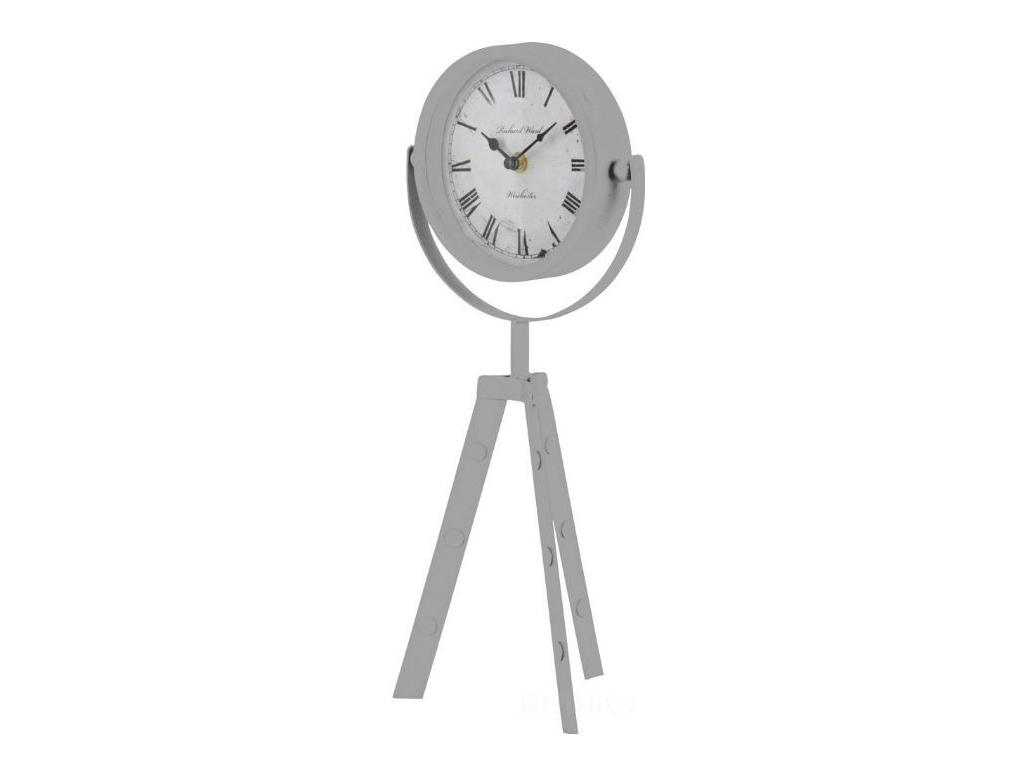 Μεταλλικό Αναλογικό Ρολόι Διαμέτρου 15cm Βιομηχανικού στυλ με Τρίποδα Στήριξης ύ διακόσμηση και φωτισμός   ρολόγια τοίχου και επιτραπέζια ρολόγια