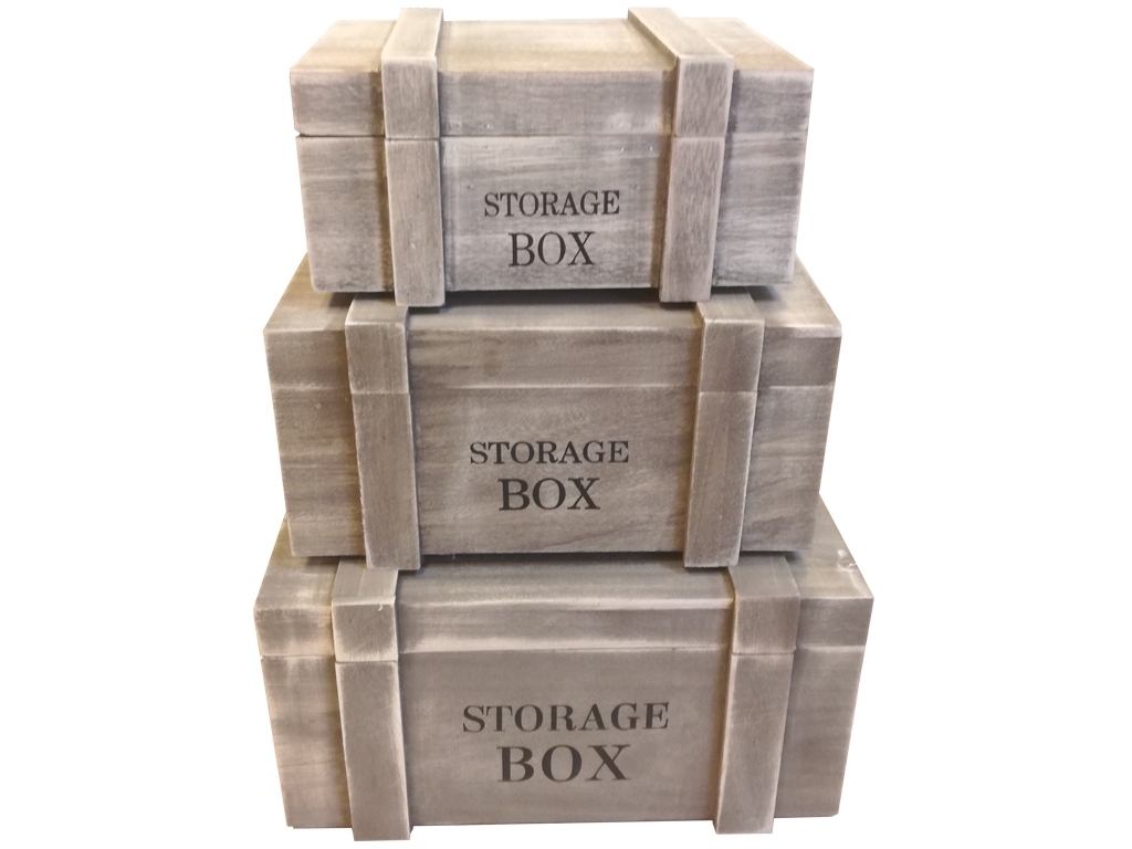 Σετ Ξύλινο Διακοσμητικό Vintage Κουτί Αποθήκευσης 3 τεμ. σε Σχήμα Μπαούλο για Μι έπιπλα   μπαούλα και κουτιά αποθήκευσης