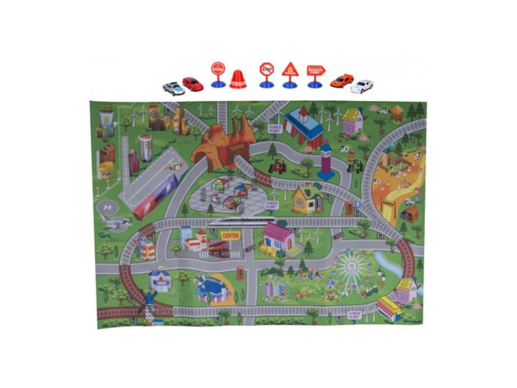Eddy Toys Σετ Παιχνιδιού Πόλη Χαλάκι 80x120cm με 9 αντικείμενα, 01100 - Eddy Toy μωρά και παιδιά   παιδική διακόσμηση