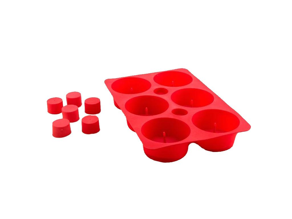 Φόρμα Σιλικόνης Καλούπι για 6 Κέικ Cupcakes σε Κόκκινο χρώμα, Tasty American, B1 μαγειρικά σκεύη   φόρμες ψησίματος   γάστρες για φούρνο