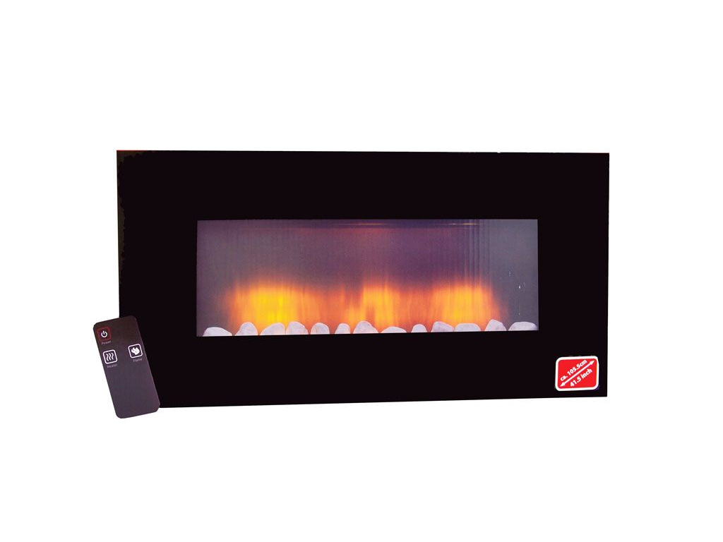 Classic Fire Ηλεκτρικό Ρεαλιστικό Επιτοίχιο Τζάκι Προσομοίωσης LED 2000W με εφέ φλόγας 94x48x12cm, 53967 - Classic Fire