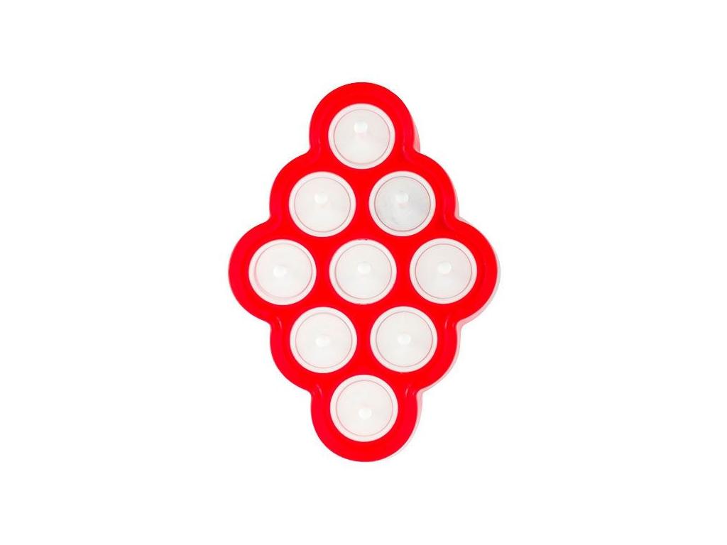 Καλούπι για Μίνι Παγωτά 24x4.5x17cm με 9 ξυλάκια σε Κόκκινο χρώμα, Yummy Pop, B1020216 - Yummy Pop