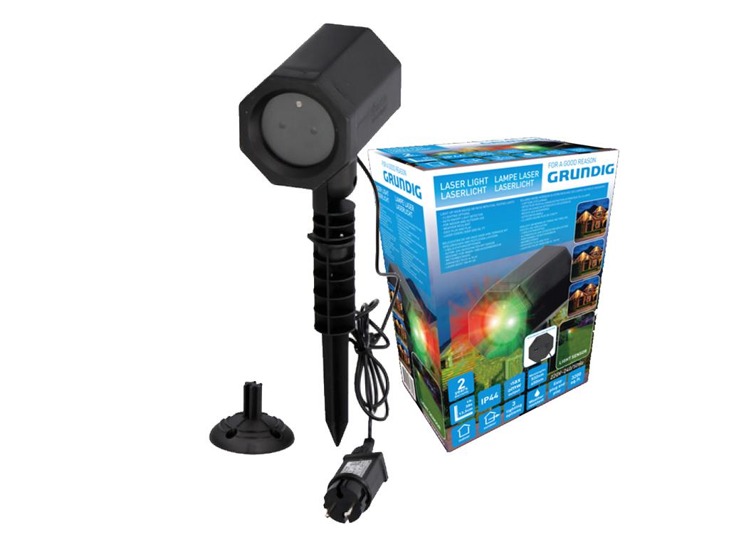Grundig Νυχτερινός Διακοσμητικός LED Φωτισμός Laser Light 5W με τηλεχειριστήριο  χριστουγεννιάτικα είδη   φωτάκια λαμπάκια