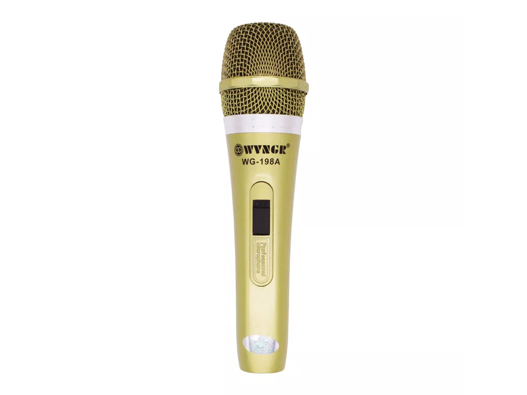 Επαγγελματικό Μικρόφωνο για Karaoke Καραόκε με Καλώδιο 5m, WG-198A - OEM μικρόφωνα   ενσύρματα μικρόφωνα