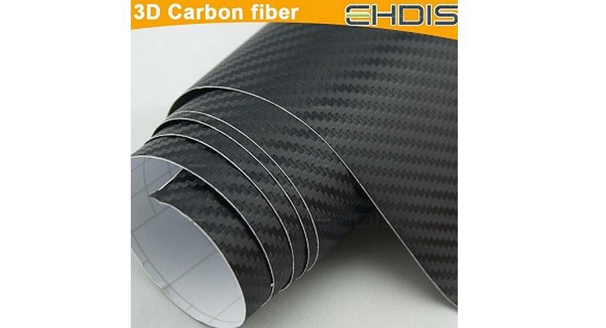 Διακοσμητική Αυτοκόλλητη Ταινία 3D CARBON - Ρολό 152Χ150cm. Χρώμα Μαύρο - CARBON