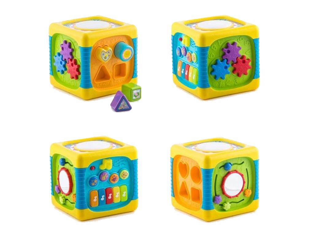 Κύβος Δραστηριοτήτων Πολύχρωμος με μουσική και φώτα για Μωρά 20cm, Globo Vitamin παιχνίδια   εκπαιδευτικά παιχνίδια