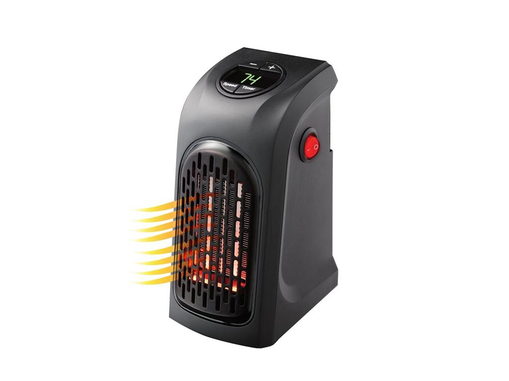 Handy Heater Μίνι Φορητό Αερόθερμο Σόμπα Πρίζας 400W Τσέπης με LED οθόνη - OEM