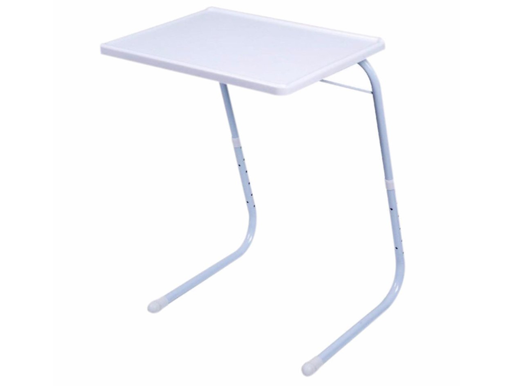 Έξυπνο Πτυσσόμενο Τραπεζάκι 66x51.5x38.7cm πολλαπλών χρήσεων σε λευκό χρώμα, Tab έπιπλα   τραπέζια και καρέκλες