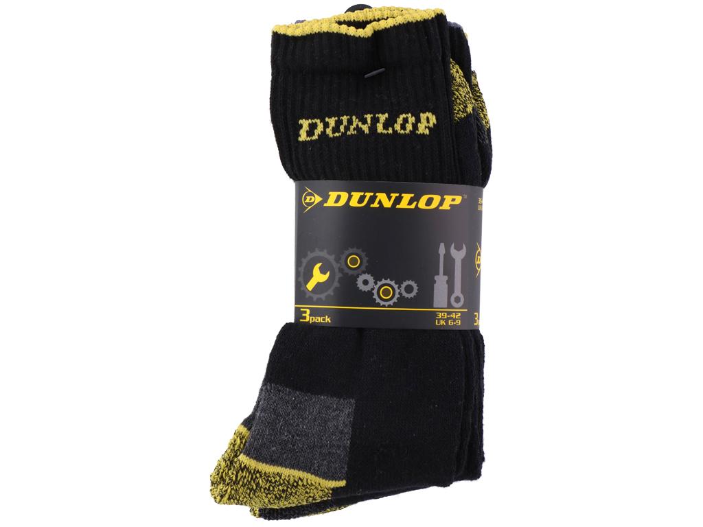 Dunlop Κάλτσες 3 Ζευγάρια Quarter πάνω από τον αστράγαλο σε Μαύρο χρώμα με Κίτρι είδη ένδυσης και υπόδησης   κάλτσες