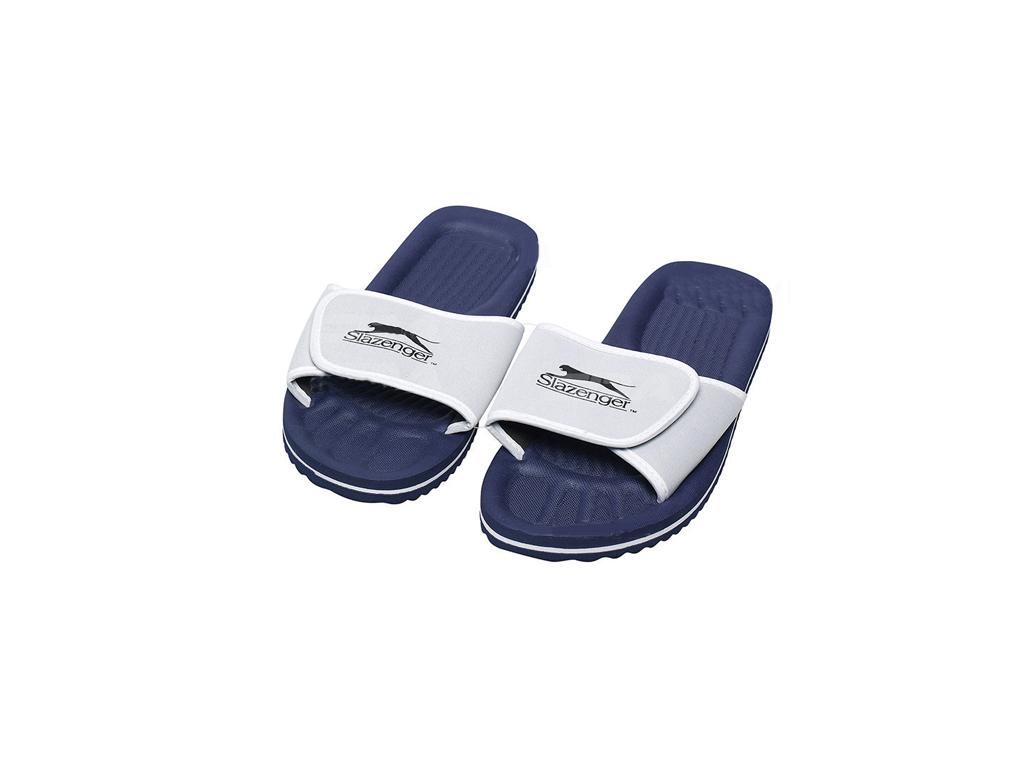 Image of Slazenger Ανδρικές Σαγιονάρες Παραλίας και Γυμναστηρίου Flip Flops Slippers σε Σκούρο Μπλε χρώμα, 41622 - Slazenger