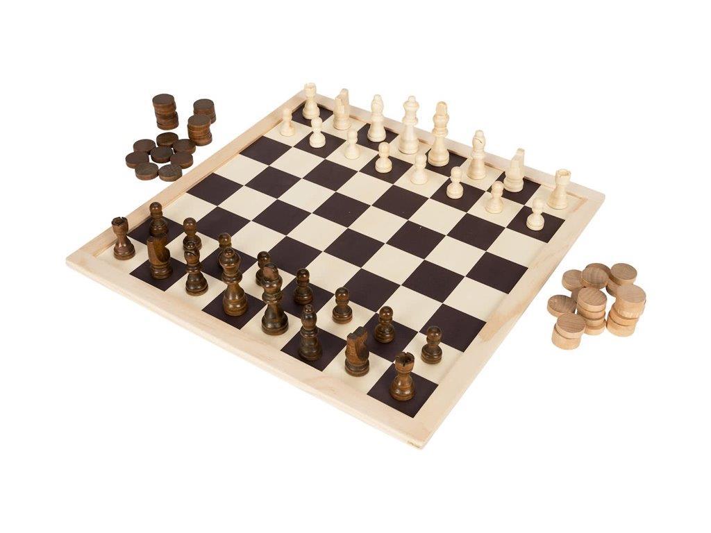 Ξύλινο Επιτραπέζιο Παιχνίδι 2 σε 1 Σκάκι και Ντάμα 40x40x4cm 73τεμ., Lifetime Ga παιχνίδια   επιτραπέζια παιχνίδια