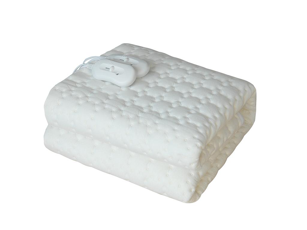 Mydomo Ηλεκτρική κουβέρτα διπλή 120W 160x140cm με 2 χειριστήρια, QD-202 - Mydomo λευκά είδη   χαλιά και κουβέρτες