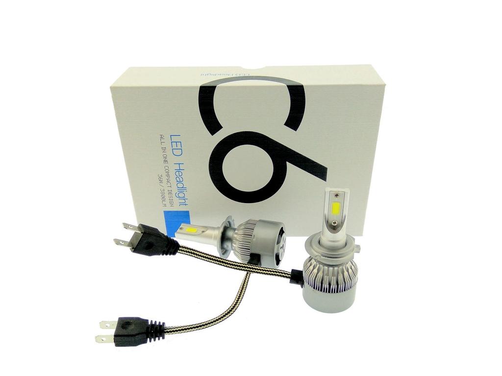 Φώτα Πορείας LED Αυτοκινήτου 12V/24V headlight 2 X 36W Η7 (72W 7600LM) CREE LED  αξεσουάρ αυτοκινήτου   λάμπες αυτοκινήτου