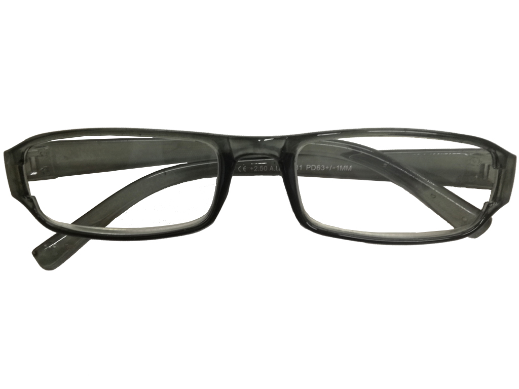 Lifetime Vision Unisex Γυαλιά Πρεσβυωπίας Διαβάσματος με Λεπτό Διάφανο Γκρι σκελετό και βαθμό +2.50, 52681 - Lifetime Vision
