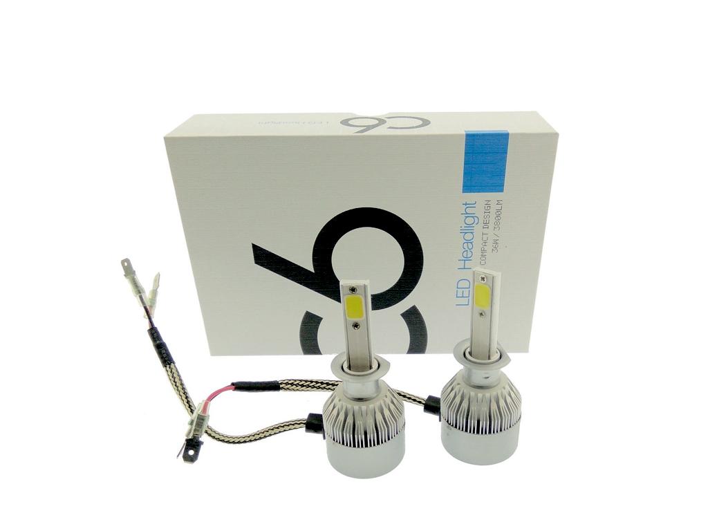 Φώτα LED Αυτοκινήτου 12V/24V headlight 2 X 36W Η1 (72W 7600LM) CREE LED Kit 6000 αξεσουάρ αυτοκινήτου   λάμπες αυτοκινήτου