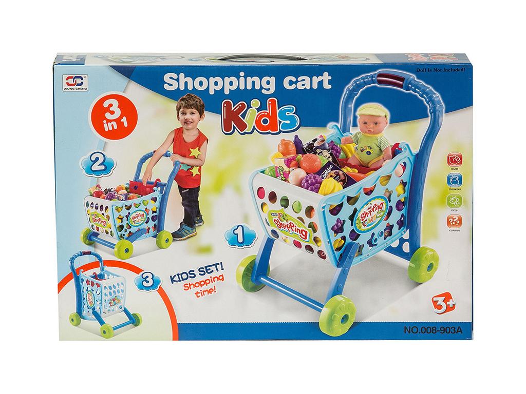 Παιχνίδι καρότσι καλάθι Σούπερ μάρκετ για ψώνια με 3 τρόπους χρήσης, 29.008-903A παιχνίδια   άλλα παιχνίδια